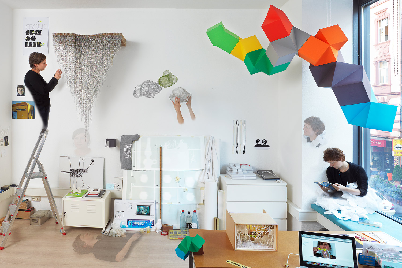 Sound of Silence, Petra Eichler & Susanne Kessler, Atelier, print 4 x 6 meter